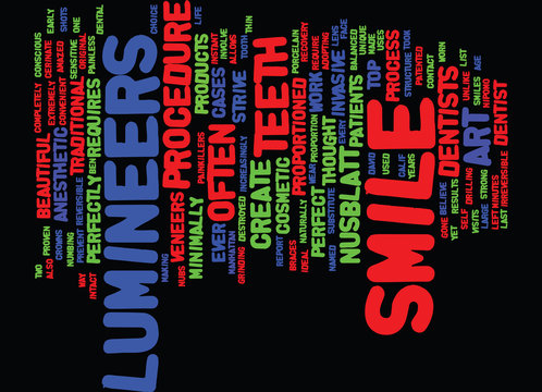 THE ART OF THE SMILE Text Background Word Cloud Concept