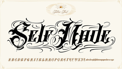 Self Made tattoo lettering set