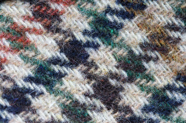 Tweed nappy woolen fabric  macro texture