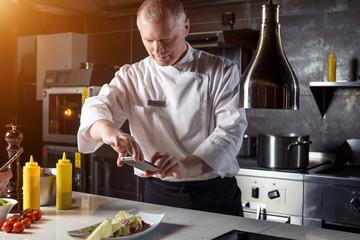 chef shoot of food on smartphone