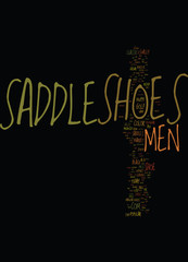 MENS SADDLE SHOES Text Background Word Cloud Concept