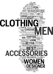 MEN ACCESSORIES IN ITS BEST FORM Text Background Word Cloud Concept