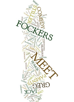 MEET THE FOCKERS DVD REVIEW Text Background Word Cloud Concept