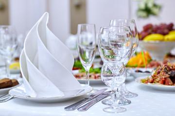 banquet in restaurant
