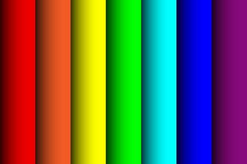 Фон в виде листов бумаги цвета радуги. Векторная иллюстрация.