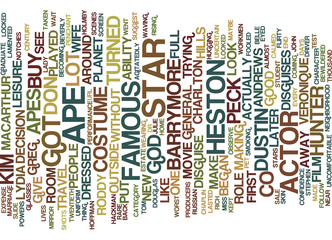 MASTERS OF DISGUISE Text Background Word Cloud Concept