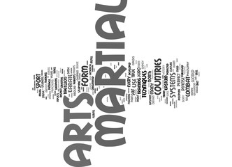 MARTIAL ARTS Text Background Word Cloud Concept