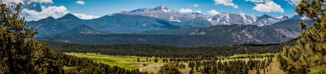 La pose en embrasure Parc Naturel Rocky Mountains, panoramic landscape, Colorado, USA