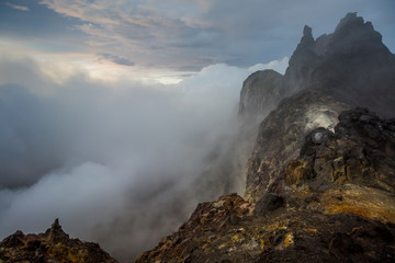 Mount Merapi is the most active volcano located on the border between Central Java and Yogyakarta, Indonesia