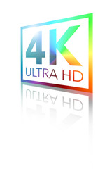 4K Ultra HD Perspective Shiny Color Logo