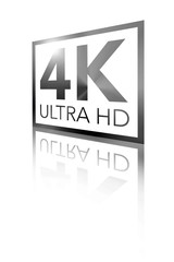 4K Ultra HD Perspective Shiny Black Logo