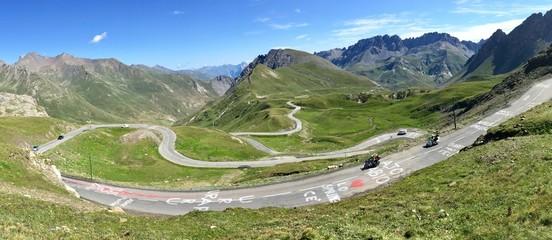 Col du Galibier après le passage du Tour de France 2017