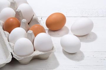Eier Schachtel Eierschachtel Ei Holzbrett Essen