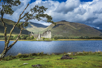 Kilchurn Castle, Argyll and Bute, Scotland. A 15th Century ruin.