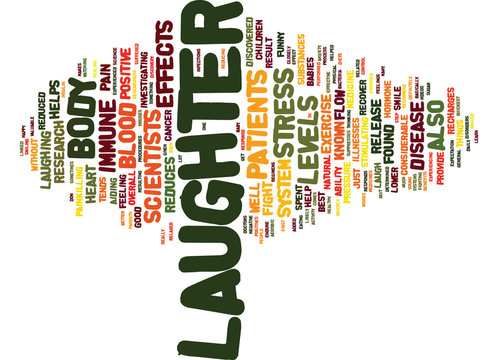 LAUGHTER CAN BE THE BEST MEDICINE Text Background Word Cloud Concept
