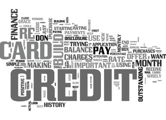 IT TAKES CREDIT TO BUILD CREDIT Text Background Word Cloud Concept
