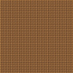 Tan Brown Woven Basketweave Background. Repeated braiding of horizontal and vertical stripes creates a 3-D basket weave pattern in brown, woven with double and triple strands.