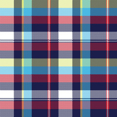 Blue check pixel fabric texture seamless pattern