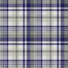 Blue gray check textile seamless pattern