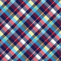 Blue check pixel fabric texture seamless pattern