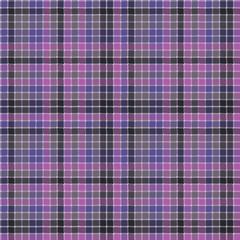 Blue purple check mosaic plaid seamless fabric texture