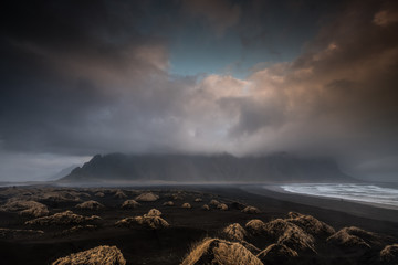 Stokksnes: Blick auf Berg Vestrahorn, Island