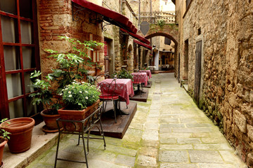 Restaurant in a small village in Tuscany