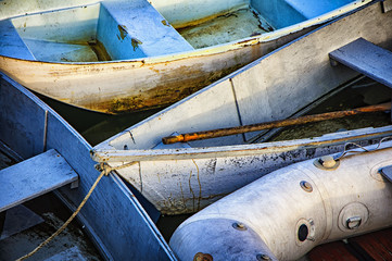 Boats Moored Together