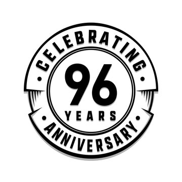 96 years anniversary logo template. Vector and illustration.
