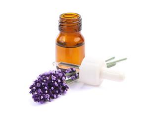 Foto op Canvas Lavendel flacon d'huile essentielle de lavande