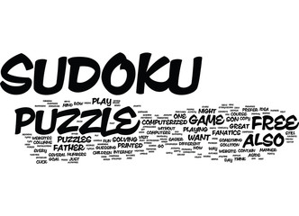 FREE SUDOKU Text Background Word Cloud Concept