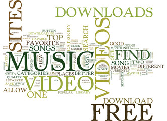 FREE MUSIC VIDEO DOWNLOADS Text Background Word Cloud Concept