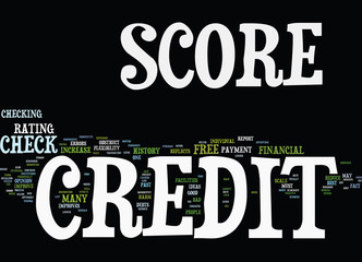 FREE CREDIT SCORE CHECK Text Background Word Cloud Concept