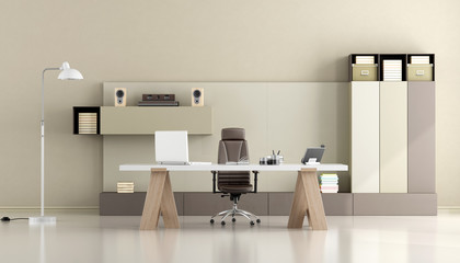 Minimalist modern office