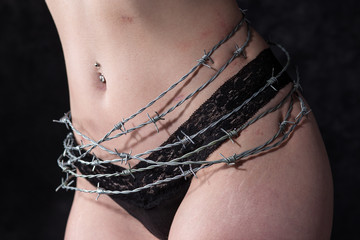 Endometriosis barbed wire