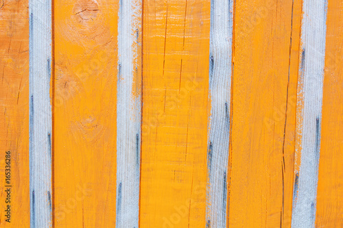 The Fence In Bright Orange Paint
