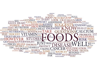 FOODS THAT FIGHT DISEASE Text Background Word Cloud Concept