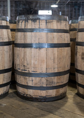 Single Bourbon Barrel in Storage