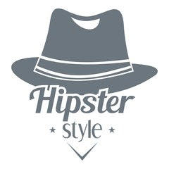 Hipster hat logo, simple style