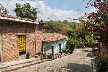 Cobbled street in Suchitoto, El Salvador