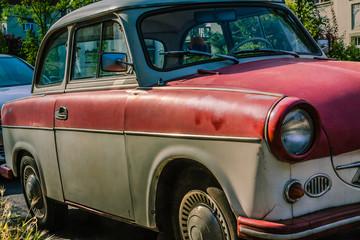 Aluminium Prints Old cars Trabant