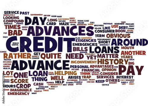 EMERGENCY PAY DAY ADVANCES HELP WHEN YOU NEED IT Text Background