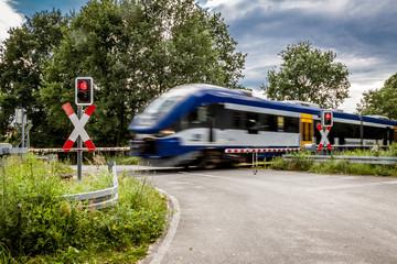 Bahnübergang in Werder, Brandenburg