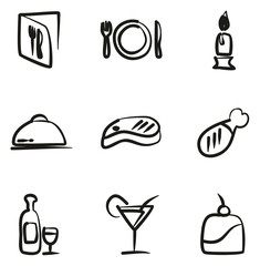 Dinner Icons Freehand
