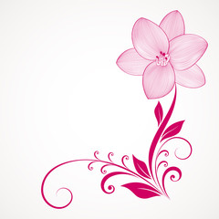 Floral background with flowers lily. Element for design.