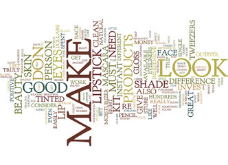 EIGHT BEAUTY KIT MUST HAVES Text Background Word Cloud Concept