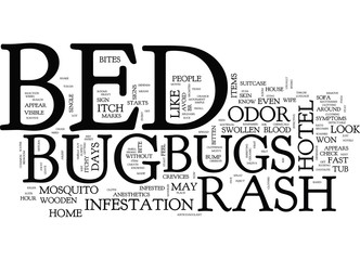 BED BUGS AND DUST MITES PICTURE Text Background Word Cloud Concept