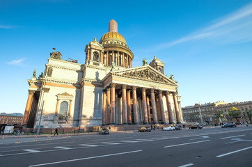 View of St. Isaac Cathedral at Saint-petersburg RUSSIA