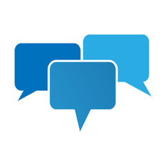 communication bubbles.  logo template.