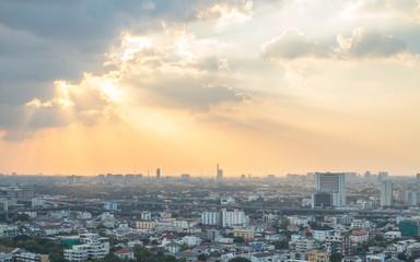 Sunset & Cityscape at Bangkok, Thailand